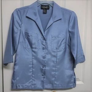 Requirements Shiny Blue Blouse Size 6P